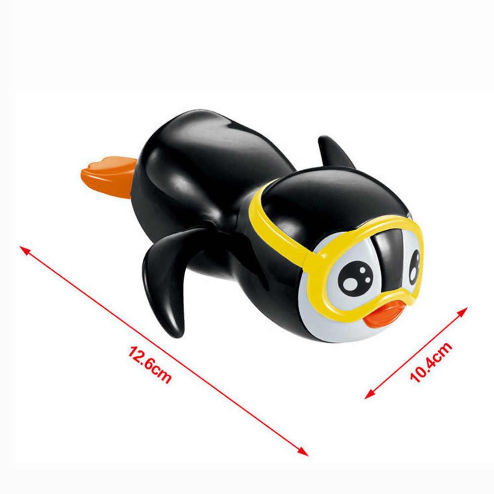 Надувной пингвин, игрушка для купания, новорожденный, малыш, случайный цвет, милый маленький пингвин