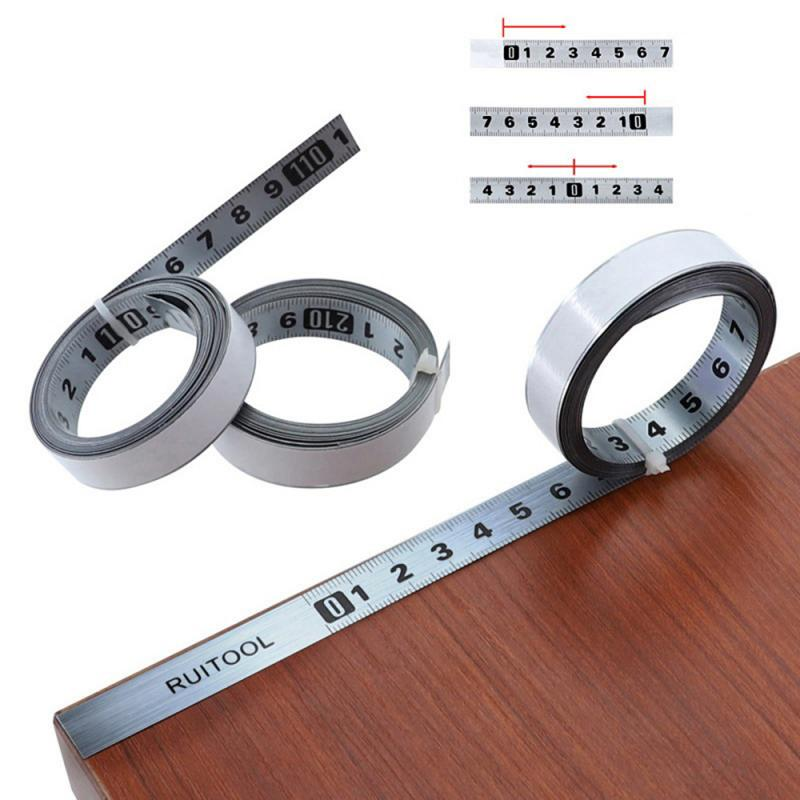 Metric Miter Track Tape Measure 0.5'' Steel Self Adhesive Scale Ruler Tape 1-5M For Router Table Saw T-Track Woodworking