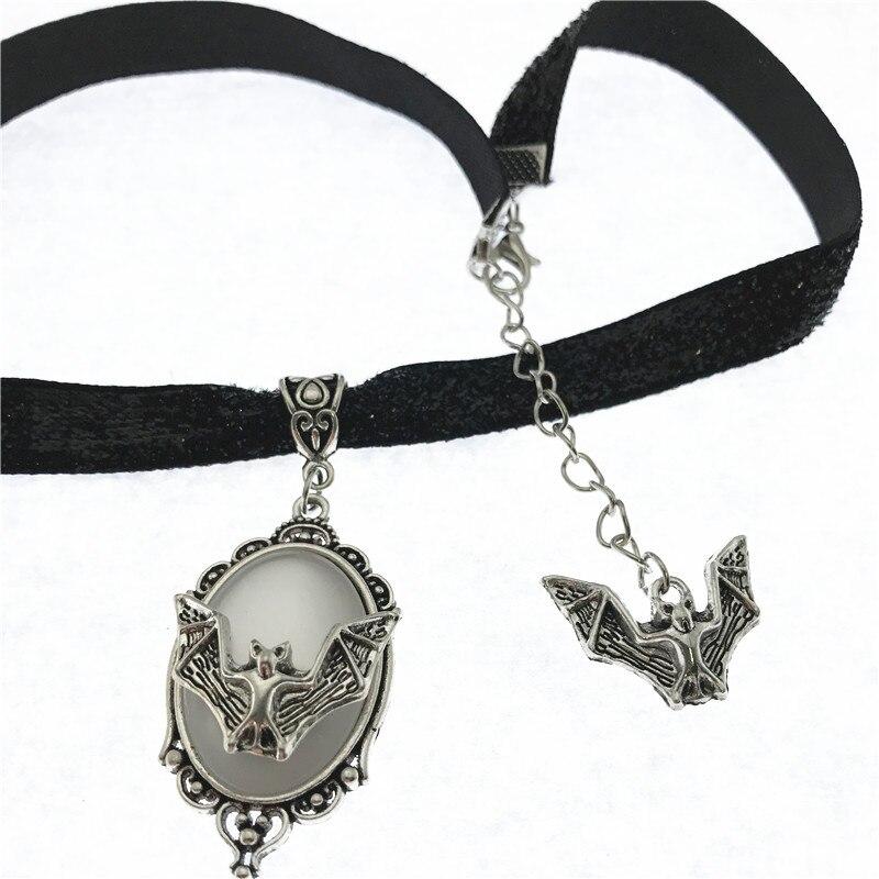 Black Velvet bat Choker Pagan Gothic Wicca Necklace Gothic Halloween,Velvet Choker