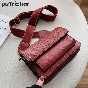 Crocodile Pattern PU Leather Crossbody Bags For Women Luxury Quality Shoulder Messenger Bag Female Handbags and Purses Designer famous brand designer women leather handbags candy color women messenger bags ladies crocodile pattern shoulder crossbody bag