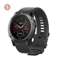 ShengOne Weiche Silikon Strap für Garmin Fenix 5 5S 5X 20 22 26MM Breite Armband Ersatz für Garmin fenix 3 3HR