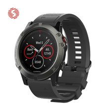 ShengOne Soft Silicone Strap for Garmin Fenix 5 5S 5X 20 22 26MM Width Watchband Replacement for Garmin Fenix 3 3HR