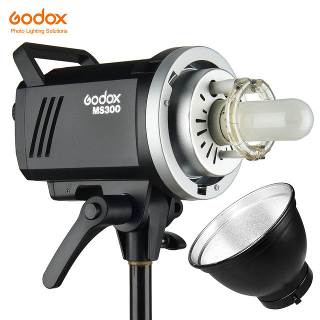Godox 200W MS200 or 300W MS300 Studio Flash 2.4G Built in Wireless Receiver Lightweight Compact and Durable Bowens Mount Flash