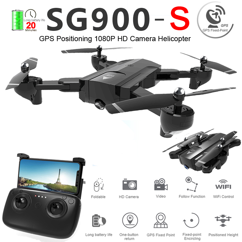 <font><b>SG900S</b></font> Profissional GPS WiFi FPV <font><b>Drone</b></font> with Camera 720P 1080P Foldable Optical Flow Wide Angle RC Quadcopter Helicopter Toys F11 image