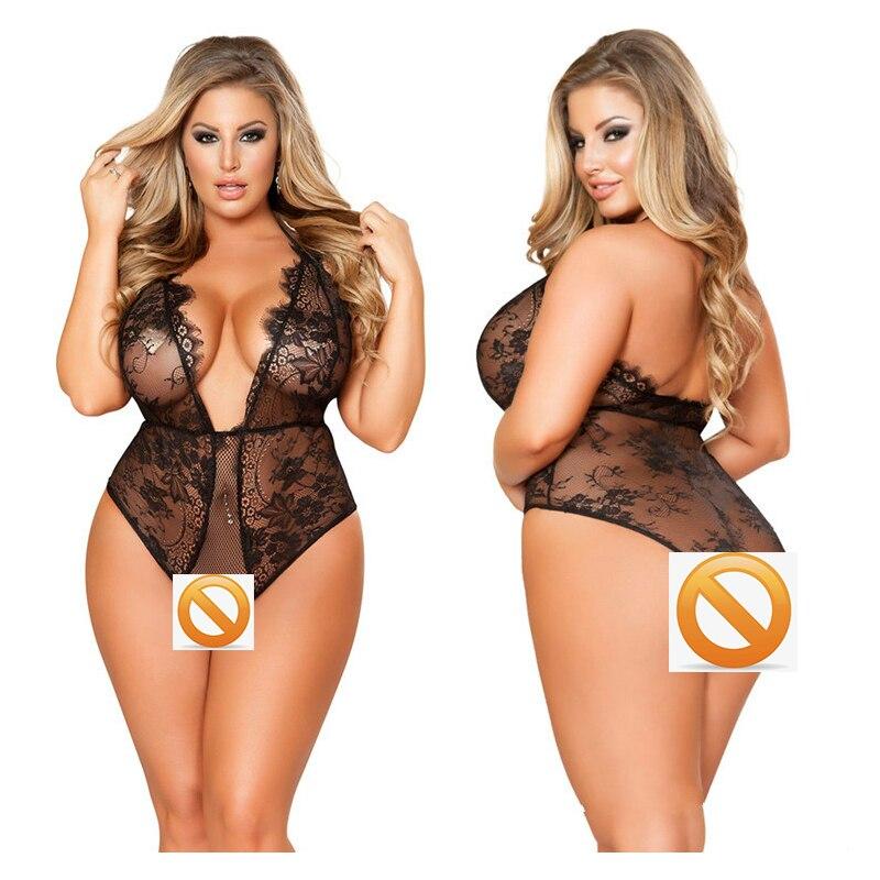 Women Lace Black Porno Girl Lingerie Increase Plus Size 4xl 5xl 6xl Female Sexy Underwear Lingerie Intimate Sexy Costumes Erotic