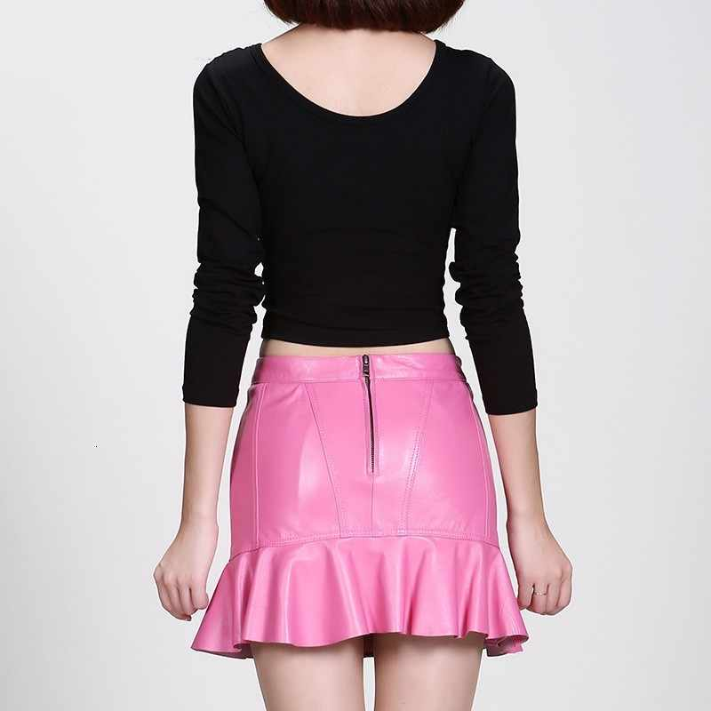 Neue Ankunft Hohe Qualität Leder Dame Hohe Taille Röcke Fashion Solid Wrap Meerjungfrau Röcke Elegante Slim Fit Falda Mujer Plus größe