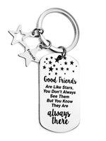 Freundschaft Geschenk (Gute Freunde Sind Wie Sterne) Edelstahl Military Keychain