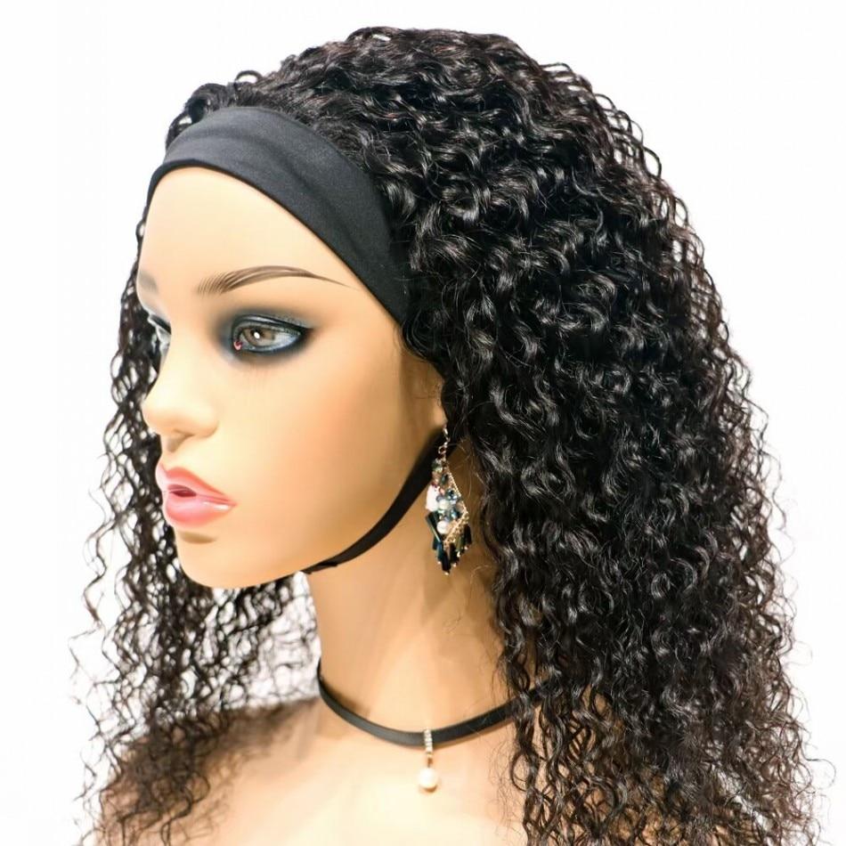Hotsale Straight Wavy Curly Ice Headband Wigs Brazilian Virgin Remy Human Hair Toupee For Women