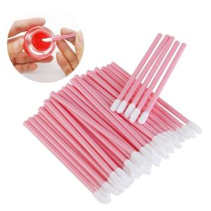 Image 1 - 1000 PCS Disposable Lip Brush Wholesale Lipstick Gloss Wands Applicator Perfect Best Make Up Tool for Women Accessories
