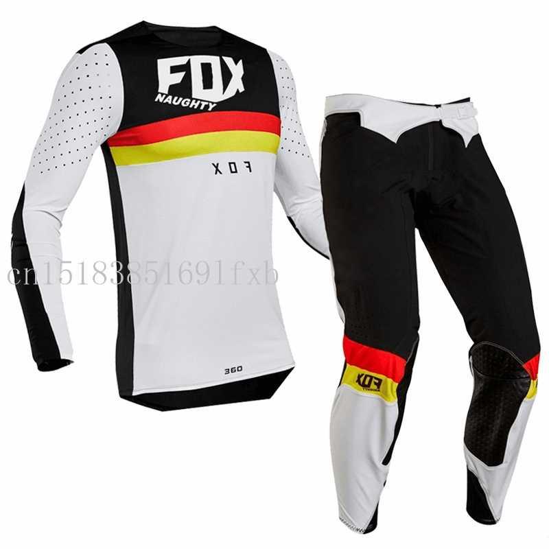 2019 Nakal Fox Flexair Motocross Gear Angkatan Laut BMX MTB Gunung Downhill Sepeda Motor Trail Motorcross Cocok untuk Off Road Motor Combo