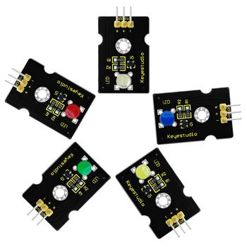 Keyestudio super-jasny kolor emitujący 5MM czerwony niebieski żółty zielony biały modułu LED dla Arduino macierzystych tanie i dobre opinie CN (pochodzenie) Nowy Napęd ic Elektryczne zabawki 3 3V