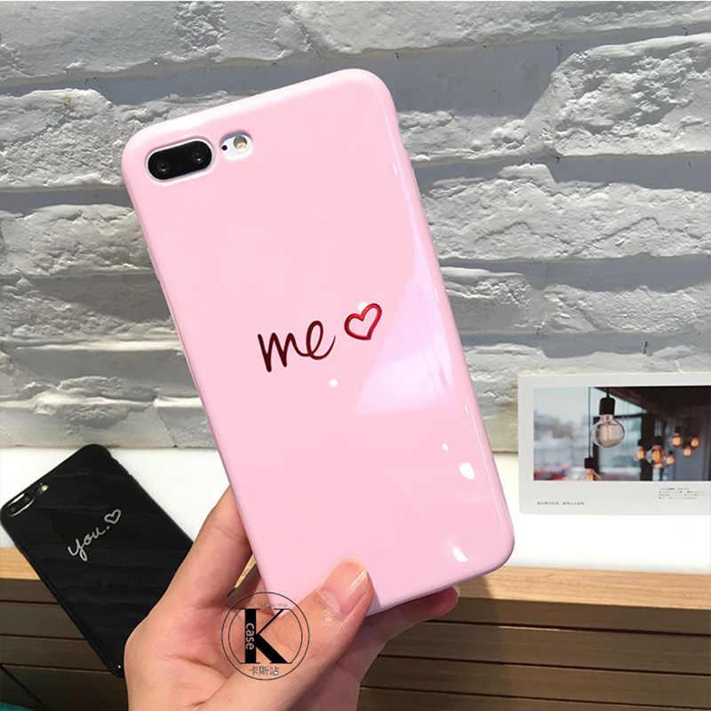 صدمات جراب هاتف على ل فون 7 8 زائد XS ماكس لامعة لينة الحب حقيبة لهاتف أي فون 6 6s 7 8 XS ماكس XR X TPU عودة كاب كابا
