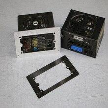 Masaüstü ATX güç kaynağı bölme bilgisayar küçük şasi SFX güç ATX braketi MATX dönüştürme çerçevesi siyah gümüş