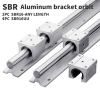 Box slide linear guide 2 SBR16 300/350/450/500/600mm + 4 SBR16 linear bearing blocks for cnc linear guide SBR16|Linear Guides| |  -