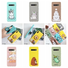 S8 S9 S10 Plus Case for Coque Samsung S10E Kawaii Phone Holder Silicone Cover Galaxy Cases