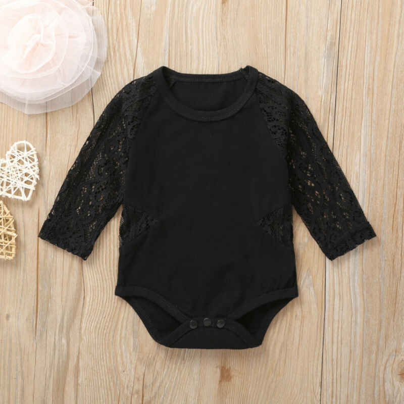 New born Baby Bodysuits Clothing Cotton One-Pieces Body Suits Kids Baby Girl Mesh Long Sleeve Lace Bodysuit Outfit Clothes