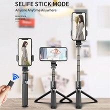 Roreta 3 em 1 alumínio sem fio bluetooth selfie vara dobrável tripé expansível monopé com obturador remoto para o telefone inteligente