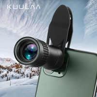 KUULAA Universal 14X Monocular Zoom HD lente óptica para teléfono móvil lente de observación telefoto para iPhone 11 Pro Smartphone