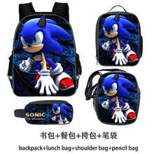 High Quality Sonic Mario Sonic Shadow Rucksack Students School Bags