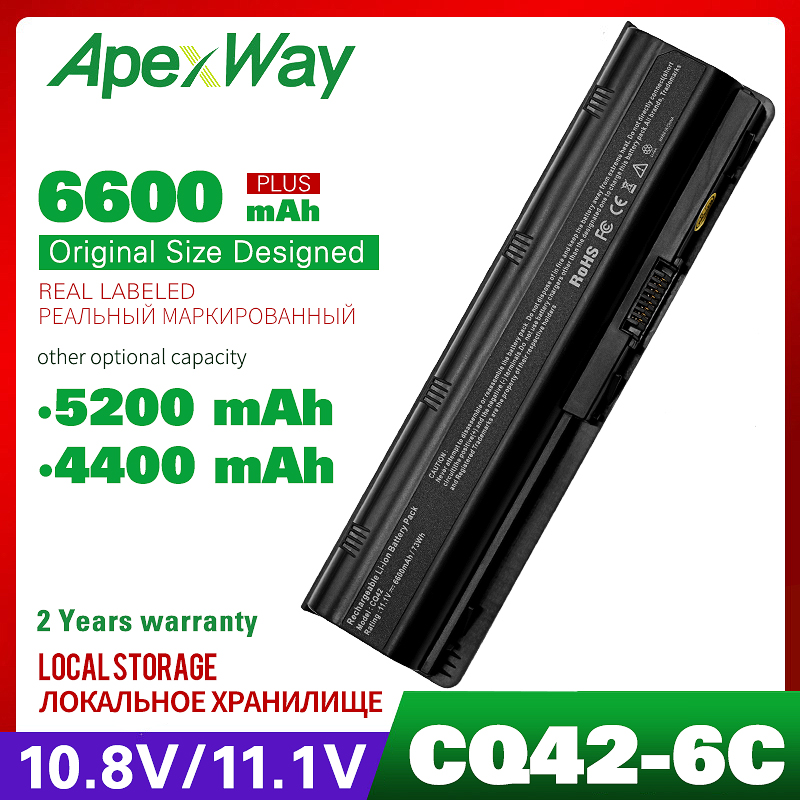 11.1V laptop battery for HP Presario MU06 CQ32 CQ42-100 dv7 CQ42 CQ62 CQ62-400 CQ56 CQ57 CQ62z-200CTO 435 Notebook PC GSTNN-Q62C image