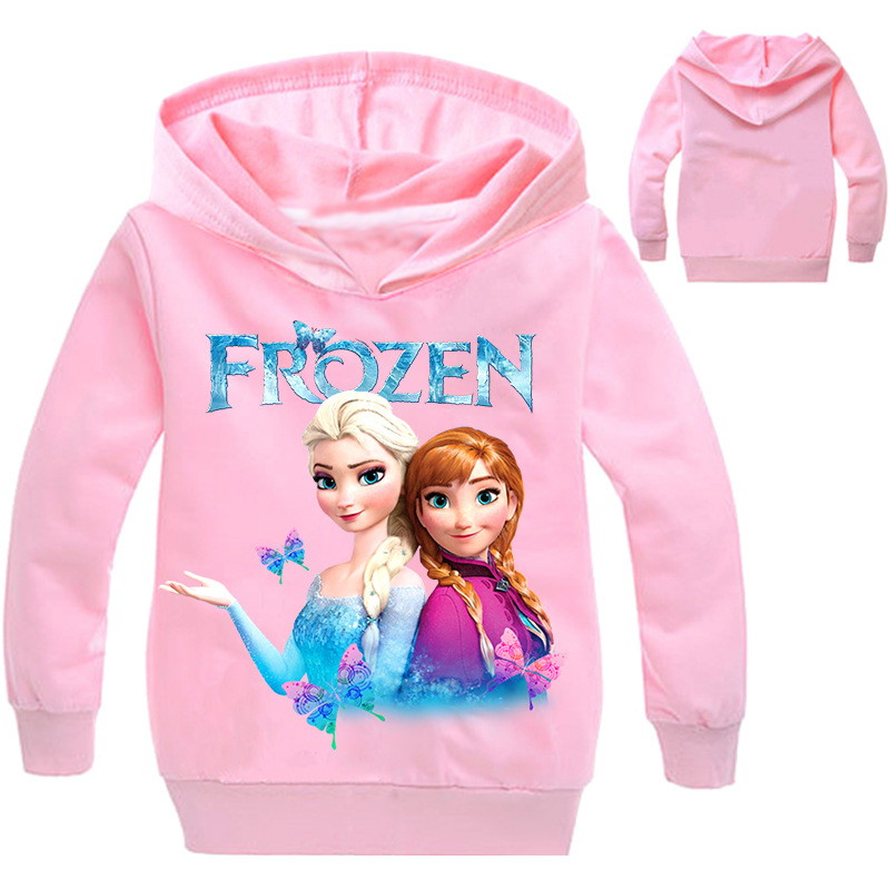 New 2021 Kids Baby Boys Girls Toddlers Frozen 2 Elsa Anna printing Hoodies Cartoon Tracksuit Children Clothing Cute Sweatshirts 6