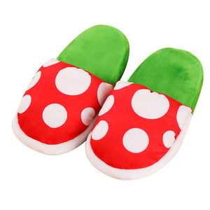 Image 5 - Women Halloween Carnival Fancy Funny Flower Cosplay Shoes Super Mario Cannibal Flower Piranha Slip on Home Wear Slippers