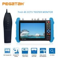7 inch H.265 4K CCTV Tester monitor Analog camera tester support Built in wifi TDR UTP RJ45 cable test IP Camera tester