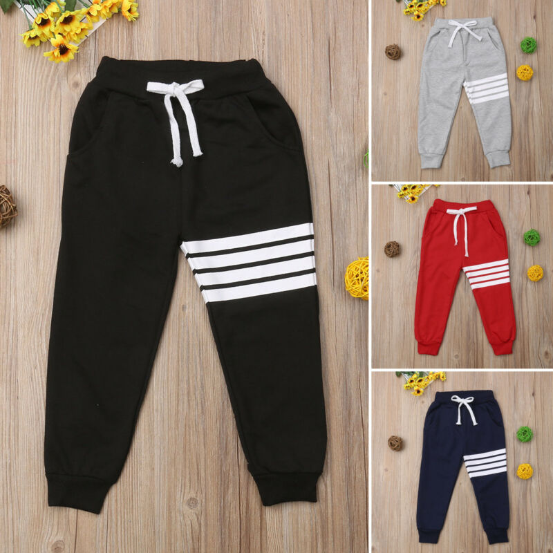 Toddler Kids Baby Boy Girl Elastic Trousers Sports Pants Harem Long Pants Leggings Bottoms