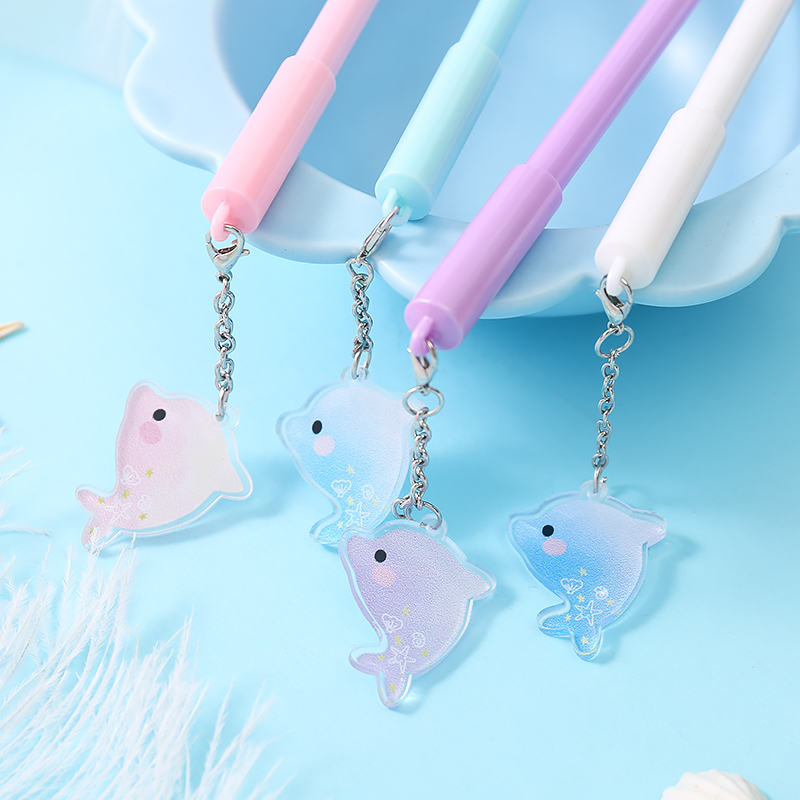 S0022 Cute Cartoon Dolphin Animal Gel Pen Writing Pens Stationery Canetas Material Escolar School Supplies Papelaria