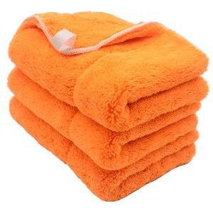 Image 3 - Chiffon de nettoyage de voiture en peluche, 3 pièces, 40cm x 30cm, 800g/m2, peluche Super épaisse, chiffon de nettoyage de voiture, lavage, cire, polissage, serviette de détail