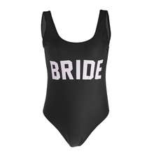 Женский цельный Монокини с буквенным принтом для невесты, бикини, свадебные, пляжные, вечерние, купальник