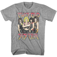 Twisted Sister Glam Rock Foto Pria T-shirt Band Album Konser Tour Merch Lengan Pendek Atasan Kaos(China)