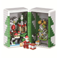 452pcs Winter Christmas Gift Box Santa ClausModel Building Kits Blocks Bricks Kids Gifts B751