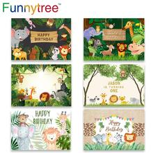 Funnytree Verjaardag Foto Achtergrond Fotografie Studio Safari Party Jungle Animal Forest Kid Kind Achtergrond Photozone Photophone