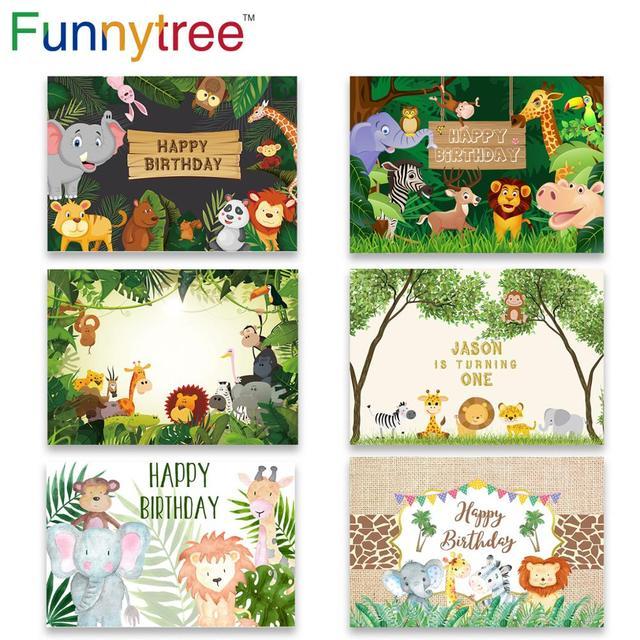 Funnytree compleanno foto sfondo Studio fotografico Safari Party giungla animale foresta capretto bambino sfondo photzone fotofono