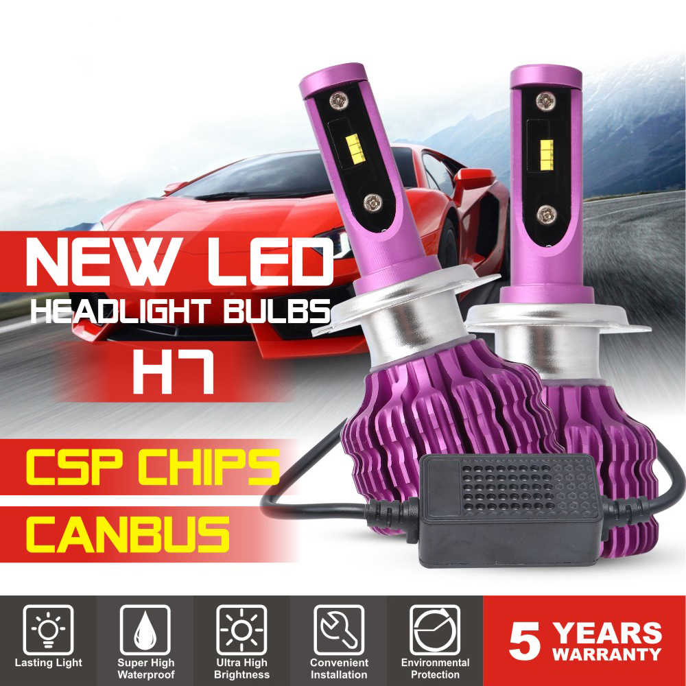 2 PCS 18000lm LED Car Headlight Bulb 9005 9006 H1 H3 H4 H7 5202 H11 100W 6500K Cold White Turbo LED Head Lamp Light