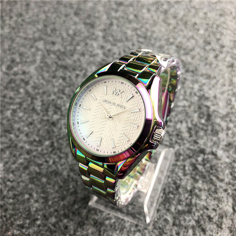 Michael Korsing Quartz Wrist Dress Women Watches Silver Bracelet Ladies Watch Stainless Steel Clock Casual Waterproof Watch