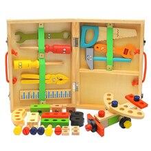 Монтессори игрушки DIY деревянная гайка разборка винт младенца многофункциональный инструмент для ремонта комплект руки-на Ассамблее моделирования детей мальчик ПОДАРОК
