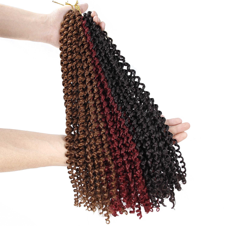 18 ''крючком косы волосы для плетения волос синтетические волосы, для увеличения объема, страсть твист длинное богемное вьющиеся накладные волосы на крючке