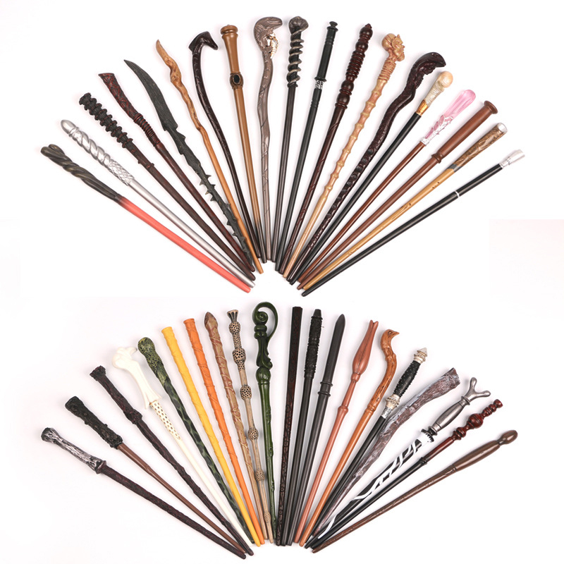 Cosplay Potter Magic Wands Dobby Hermione Dumbledore Snape Ron Metal Iron Core Magic Wands Harried without Box toys for children