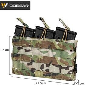 Image 4 - IDOGEAR Bolsa de Triple revista, 5,56 Mag, bolsa abierta superior, Airsoft, equipo militar, juego de guerra, bolsas tácticas para revistas, 3526