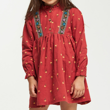 CupofSweet Ruffled Neck Girls Dresses Children Clothes 2019 Autumn Winter Woven Dress Shirt Long Sleeve Kids Girl Casual