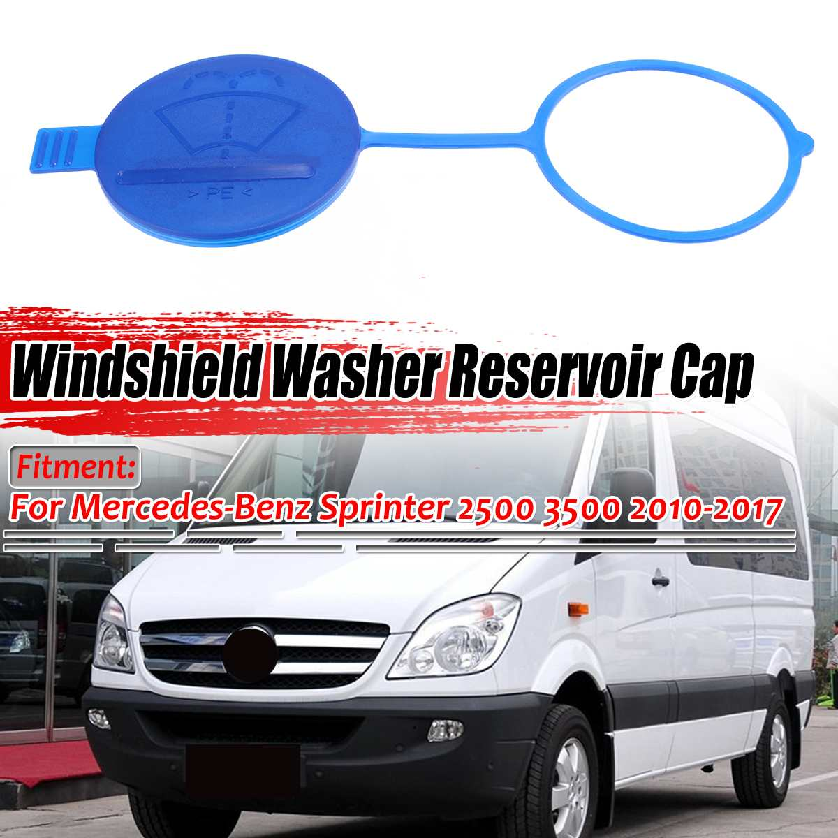New Car Windshield Washer Fluid Reservoir Cap For Mercedes For Benz Sprinter 2500 3500 2010-2017 6388690008 A9068690072