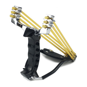 Image 3 - Slingshot Powerful Hunting With 3 Rubber Band Tubing Catapult Professional Tactical Pocket Target Sling Shot Outdoor Bow