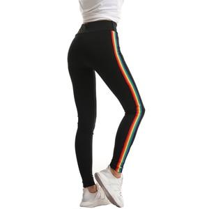 Image 4 - Mallas góticas de entrenamiento para Mujer, mallas góticas con adornos de arcoíris, deportivas de cintura alta, pedido Original americano