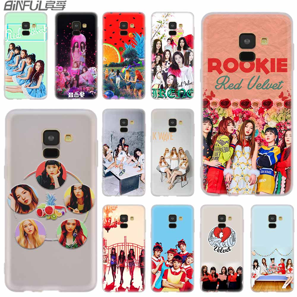 <font><b>Red</b></font> Velvet <font><b>case</b></font> <font><b>Silicone</b></font> cover For <font><b>Samsung</b></font> Galaxy A6 A8 A9 A7 <font><b>A5</b></font> A3 Plus 2018 <font><b>2017</b></font> 2016 2015 A6S Pro Star image