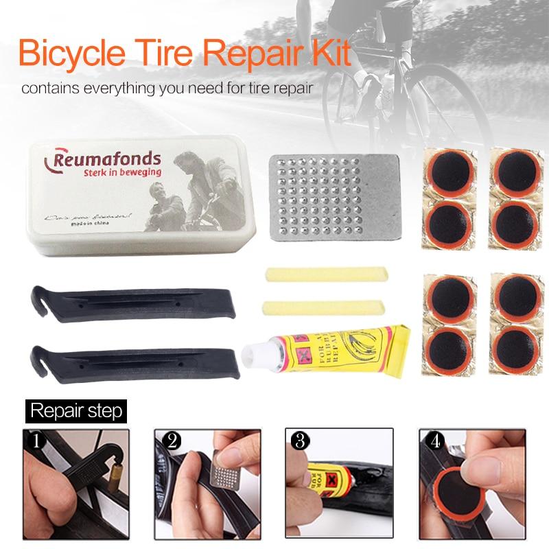 Mountain Bike Bicycle Repair Tools Cyclist Flat Tire Repair Rubber Patch Glue Multi-Purpose Outdoor Emergency Tire Repair Kit