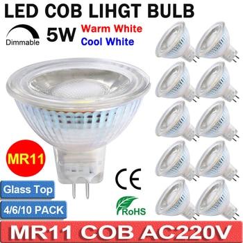 2/4/6/10PACK MR11 Spotlight Light Bulbs Dimmable LED Full Glass Cover Reflector 5W AC220-240V Warm/Cool White LED Bulb D40 цена 2017