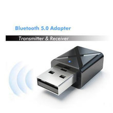 Bluetooth 5.0 Audio Receiver Transmitter Mini Stereo Bluetooth AUX RCA USB 3.5mm Jack For TV PC Car Kit Wireless Adapter(China)
