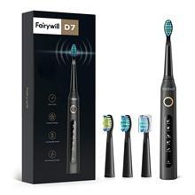 Fairywill – brosse à dents électrique sonique Rechargeable, minuterie intelligente, 5 Modes, chargeur USB, brosse de nettoyage puissante, têtes de rechange